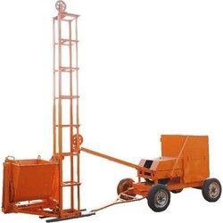 Mobile Concrete Mixer With Lift