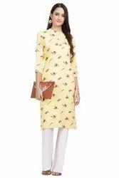 Straight Stitched Ladies Cotton Palazzo Suit, Size: M-XXL, Wash Care: Machine wash