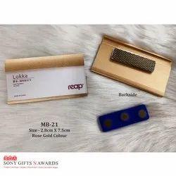Rosegold Metal Plastic Paper Insert Based Magnet Name Badge