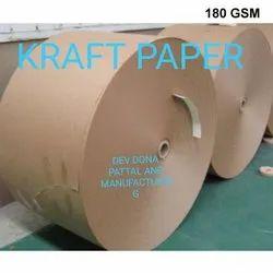 180 GSM Brown Kraft Paper, For Packaging, Packaging Type: Roll