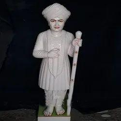 Lord Shri Jhala Ram Devji White Marble Statue