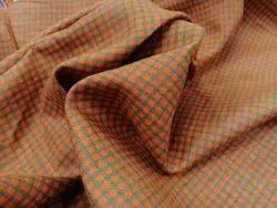 Machine Wash Check Linen Shirting Fabric