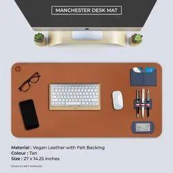 Multicolor Vegan Leather Desk Mat Set