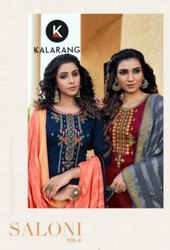 Kalarang Fashion Saloni Vol 4 Jam Silk Cotton With Embroidery Work Dress Material Catalog