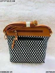 Craftstages Designer Ikkat Sling Bags, For Casual Wear