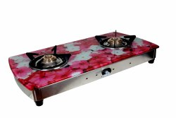Pink Flower Printed Cooktop for Kitchen