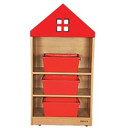 House Shaped School Storage Rack