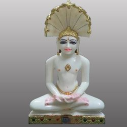White Marble Bhagwan Parsnath Statue