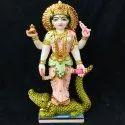 God Ganga Devi White Marble Statue