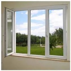 Modern Powder Coated Aluminium Casement Window, For Home