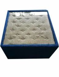 Grey And Blue Square Center Table