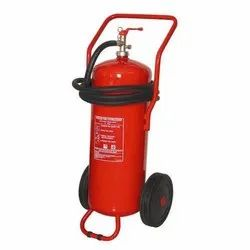 Trolley Mounted Dry Powder Fire Extinguisher, Capacity: 40 Kg