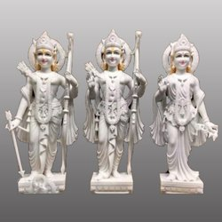 White Marble Ram Jodi Statue