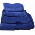Blue Bombay Dyeing Super Ultrx Neon Plain Dyed 4 Piece Cotton Towel Set, 650 Gsm