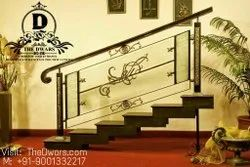 Matte Bar Steel Stair Railing, For Home