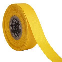 Gross Grain - Golden Yellow Ribbons 25mm/1''inch Gross Grain Ribbon 20mtr Length