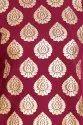 Women Gold Foil Printed A-Line Kurta (Wine)