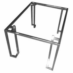 Glass Top Stainless Steel Dining Table
