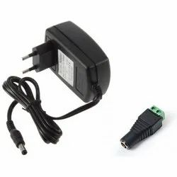 Black 12V 2A Power Adaptor, For Electronic Instruments