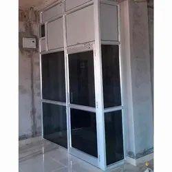 Swing Plain Aluminium Glass Doors, For Office