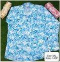 Blue Party Wear Mens Fancy Printed Fancy Shirt, Size: M, L