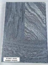 M. Black Cloudy - Shotblast   Brushed Tiles
