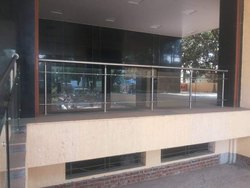 12mm Glass Railing, For Hotel