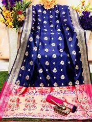 hetash fashion 6.3 m (with blouse piece) Paithani Silk Saree