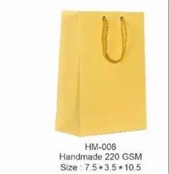 Yellow Handmade Paper Bags