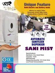 Infra Red Sensor And Wall Mounted Sanitizer Dispenser Gel Machine