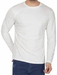 Cotton Plain Men Full Sleeve T Shirt