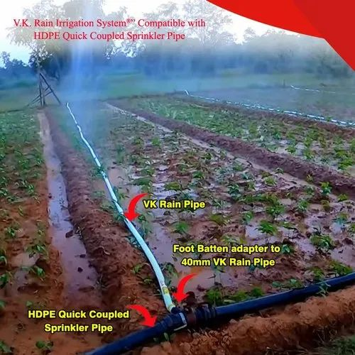 Rain Irrigation System Compatible With HDPE Sprinkler Quick Coupled
