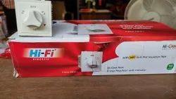 White Plastic Eme fan 5 step regulator with indicator