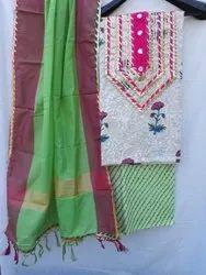 Aaditri Ladies Gota Patti Work Suit Dress Material