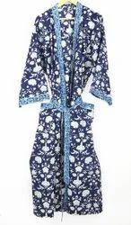 Cotton Printed Kimono Robe
