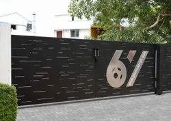 Swing Modern MS Residential Gate, Size: 10x5 Feet