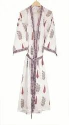 Designer Cotton Printed Kimono Dress