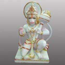 Lord Hanuman ji aashirwad Light Paint Marble Statue
