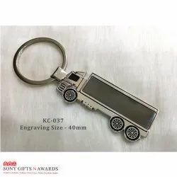Black Metal Truck Keychain Keyring
