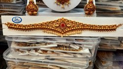 Golden Brass Designer Kamar Patta, Wedding and Party wear