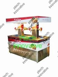 10 Nozzle With Cooling Facility Automatic Panipuri Machine