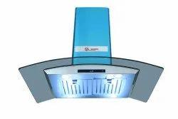 Quba Baffle 9115 Island 90 Cm Roof Mounted Kitchen Chimney, Suction Capacity(M3/Hr): 1250 M3h