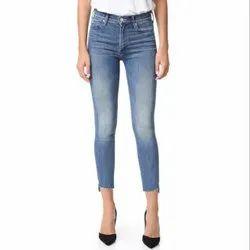 VSPL Mid waist Skinny Ankle Denim Ladies Jeans, Waist Size: 28-32 Cm