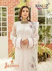 Rinaz Fashion Jazmin Vol 14 Georgette With Embroidery Work Pakistani Salwar Suit Catalog