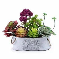 metal flpwer pots for plants