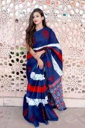 Casual Wear Ladies Designer Silk Saree, 6.3 m (with blouse piece)