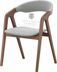 Teak Wood Brown Wooden Restaurant Chair