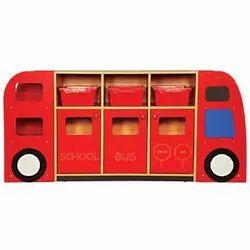 Bus Shaped School Storage Rack