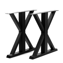 Dimensions: 28 Inches Iron Crossed Leg Dining Table