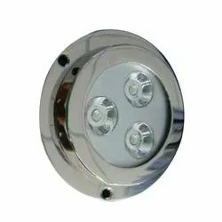 Cool White 5 W Stainless Steel Wall Mounted LED Lights, For Fountain, Voltage: 240 V